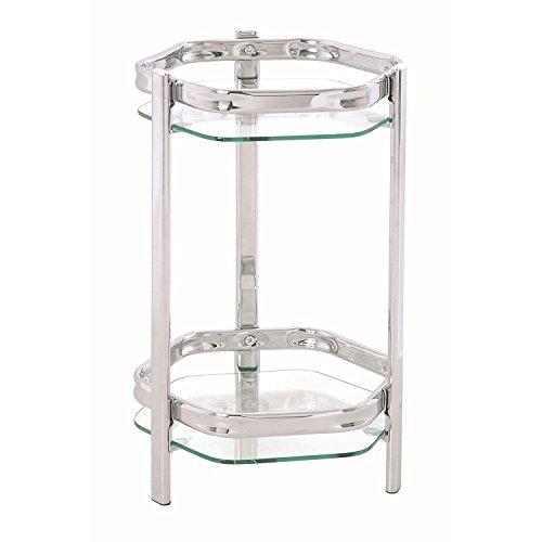 HAKU Möbel 60206 Blumensäule 45 x 28 cm, chrom