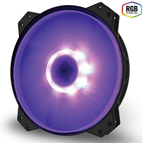 Cooler Master MasterFan MF200R RGB (R4-200R-08FC-R1): ventola PWM RGB da 200mm, cuscinetto ad alta scorrevolezza, design ibrido delle pale con bilanciamento del flusso d'aria