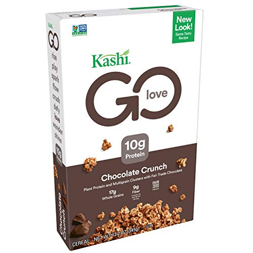 Kashi GO Chocolate Crunch Breakfast Cereal - Vegan | Non-GMO | 12.2 Ounce (Pack of 1)
