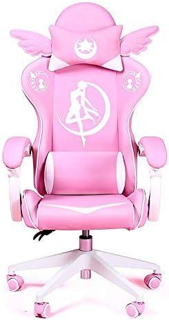 Gaming Chair Girls Reclining Computer Chair Home Fashion Live Chair Game Chair Lift Office Boss Chair-B