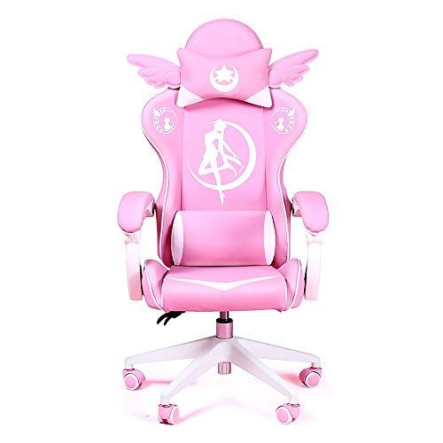 Spielstuhl,Gaming Chair Girls Reclining Computer Stuhl Home Fashion...