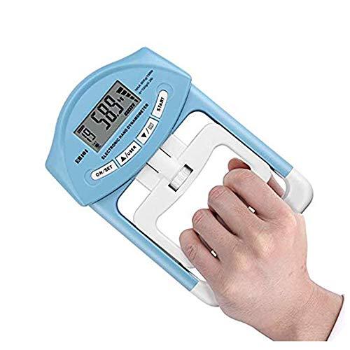 VAlinks Digital Portable Hand Dynamometer Grip 198 Lbs / 90 kg Strength Power Measurement Meter Auto Capturing (1 PCS Blue)