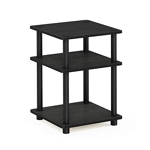 Furinno Turn-N-Tube Easy Assembly Multipurpose Shelf, Blackwood/Black