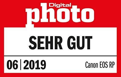 Canon EOS RP Systemkamera - mit Vollformat-Sensor + Adapter EF-EOS R (spiegellos, 26,2 MP, 7,5cm (3 Zoll) Clear View LCD II Display, Digic 8, 4K Video, WLAN, Bluetooth), schwarz