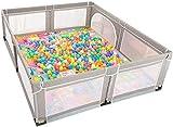 LQBDJPYS Laufstall Kleinkind Maxi-Zaun for Twin, Baby-Sicherheits-Activity Center Playpen for Innen,...