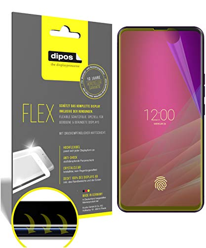 dipos I 3X Schutzfolie 100prozent passend für Allview Soul X6 Xtreme Folie I 3D Full Cover Bildschirmschutzfolie