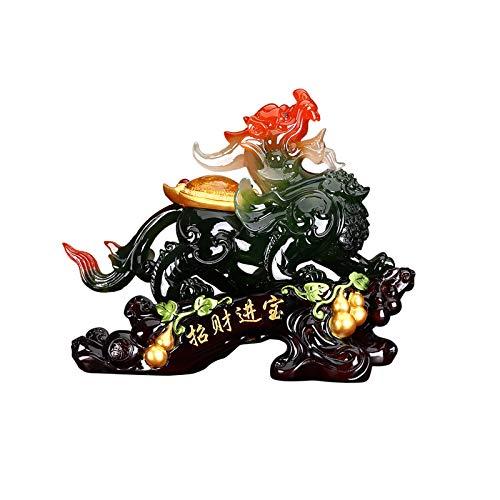 Decoración de Escritorio PI XIU Decoración Oficina Casa Muebles Feng Shui Pi XIU Estatua Decoración Apertura Regalo Artesanía Símbolo de la riqueza y buena suerte decoración Escritorio Escultura Manua