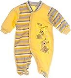 Strampler Schlafanzug Baby Anzug Gelb Overall 56 62 68 74 80 Einteiler Pyjama (86)
