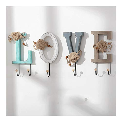 Schlüsselanhänger für Damen Brief-Schlüssel-Haken, an der Wand befestigten Key Aufhänger, Doppelhaken-Tasten-Design, kann als Schlüssel Haken verwendet werden kann, Tasche, Kleidung Anhänger, Wanddeko