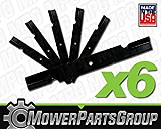 MowerPartsGroup (6) Notched Hi Lift Blades Replace Bad Boy 038-6050-00 60