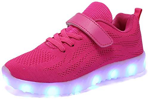 adituob Kinder LED Schuhe - Licht Auf Casual Schuhen Mode Atmungsaktives Mesh Blinkende Turnschuhe Ausbilder Outdoor - Schuhe Die Jungen Der Junge Dchen