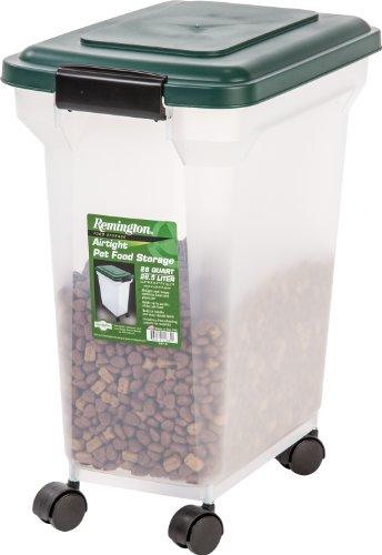 dog food storages IRIS Remington Airtight Pet Food Storage Container, 22-Pounds, Hunter Green