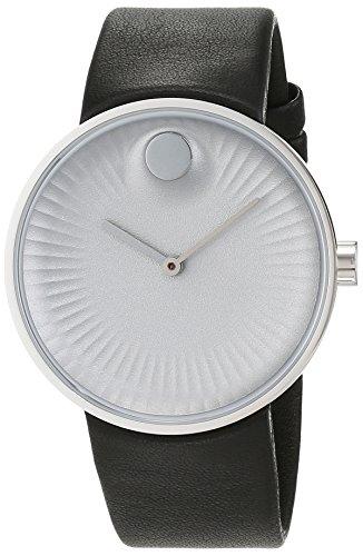 Movado heren datum klassiek kwarts horloge met lederen armband 3680001