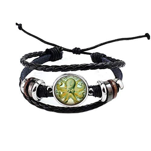 Brazalete de pulpo, pulsera de plata náutica, pulsera de plata, regalo para ella, regalo para adolescentes, joyería náutica de animales de mar # 182