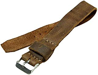 Hide & Drink, Leather Wristwatch Strap Replacement (20mm), Watch Band, Timepiece Accessories, Handmade - Bourbon Brown