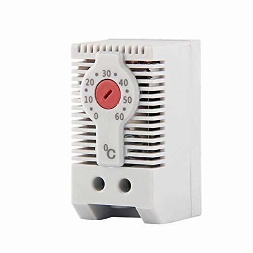 Mogzank KTO011 Normalmente Cerrado NC Controlador de Temperatura MecáNico Ajustable Gabinete Termostato Carril Din, para Uso de CalefaccióN