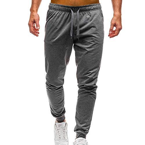 Geili Sporthose Herren Lang Männer Modern Einfarbige Taschen Kordelzug Jogginghose Slim Fit Gym Yoga Trainingshose Freizeithose Arbeitshose 5 Farben