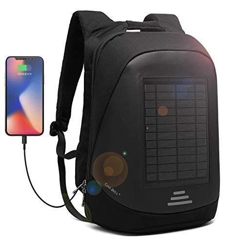 CoolBell Solar-Panel Rucksack mit USB Ladeanschluss Stadt Anti-Diebstahl Tasche Functional...