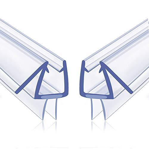 Shower Door Bottom Seal, 2 Pack Glass Shower Door Seal Strip Shower Door Seal Frameless Seal Shower Door  Stop Shower Leaks and Create a Water Barrier (3/8 X 39) (2)