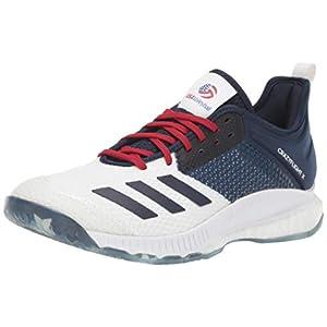 adidas Women's Crazyflight X 3 USA Volleyball Shoe, White/Collegiate Navy/Power Red, 13 M US