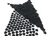 versandhop Konfetti-Herz Schwarz 1cm 10mm klein Nageldesign Handwerk Basteln Tisch-Dekorieren Streu Valentinstag Geburtstag Baby-Party Pinkel-Party 45g