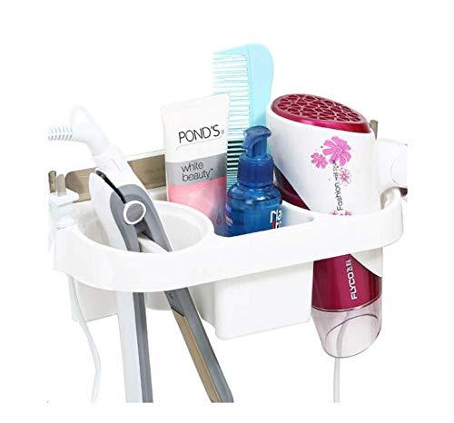 Eckdusche Badezimmerhalter Blasregal ohne Stanzen, elektrisches Schienenregal, Hautpflegeprodukte, Kamm, Lagerregal, Stecker auf beiden Seiten, starke Belastung