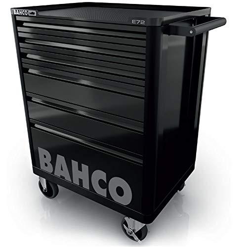 Bahco Werkstattwagen E72, Schwarz, 6 Schubladen bestückt mit 214-tlg Werkzeugset