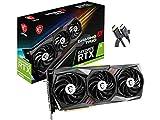 Newest 2021 MSI Gaming GeForce RTX 3060 12GB 15 Gbps GDRR6 192-Bit HDMI/DP PCIe 4 Tri-Frozr Torx Fan Ampere RGB OC Graphics Card (RTX 3060 Gaming X Trio 12G) +AllyFlex HDMI