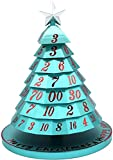 MTDBAOD Aluminum Christmas Tree Dice Set,7pcs/Set New Playing Dice Innovative RPG Dice Toys Set,Rotating Christmas Tree Decorations,for Tabletop Gaming and Family Fun (Blue)