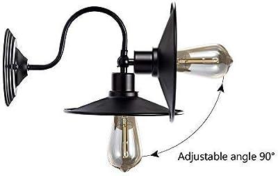 Industrial Apliques de Pared Metal Lampara Vintage Retro Lámpara Rustica de Pared E27 para la Salon