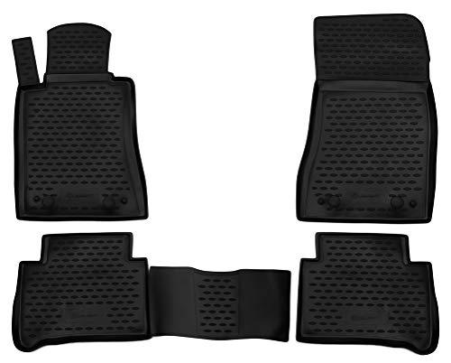 Element EXP.NLC.34.36.210 Passgenaue Premium Antirutsch Gummi Fußmatten - Mercedes-Benz E-Class W211 (Rear Drive) - Jahr: 02-09, schwarz