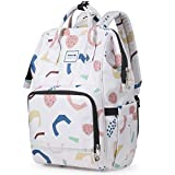 Hanke Multifunction Diaper Bag Backpack with Thermal Pocket Maternity Baby Nappy Changing Bag Large Capacity Diaper Backpacks for Mom Dad,Floral-1