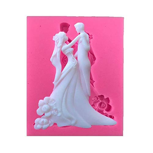 GYJWSBAW DIY Bruiloft Decoraties Bruid En Groom Siliconen Mallen Cake Mold Bakgereedschap Handgemaakte Zeep Mold Cake Pop Recept