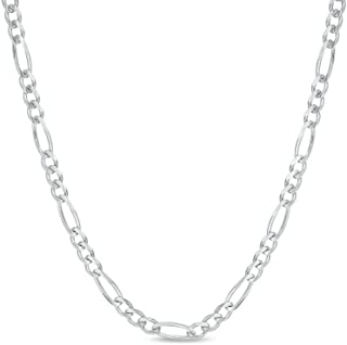 925 Sterling Silver 3.5MM, 4MM, 4.5MMFigaro Link Chain Necklace - Silver Figaro Link Necklace for Men 18-30