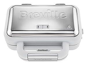 Breville VST070 Sandwich Toaster, 850 W, Grey & Textured Stainless Steel