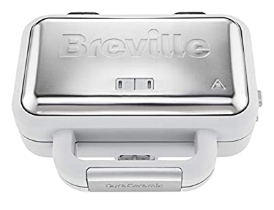 Breville VST070 Sandwich Toaster, 850 W, Grey & Textured Stainless Steel from Breville