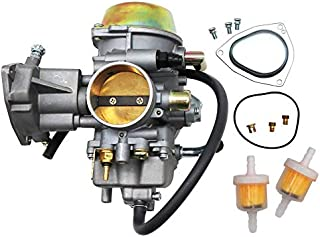 MKING Carburetor For Yamaha RHINO 660 YFM660 YXR660FA YXR660FSE YXR660FH YXR660 Hunter UTV ATV 2004 2005 2006 2007 Replace OEM part number 5KM-14901-00-00 2Pcs New Main jets & 2Pcs Fuel Filters