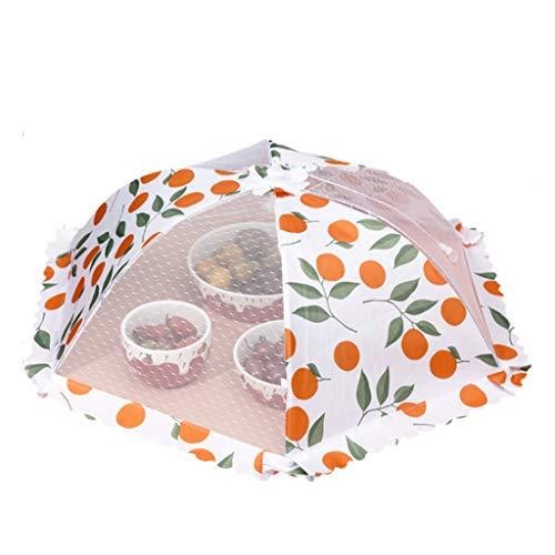 XYZMDJ cubierta plegable de mesa de comedor cubierta de polvo de alimentos para el hogar anti-mosca sobrante de alimentos cubierta vegetal paraguas