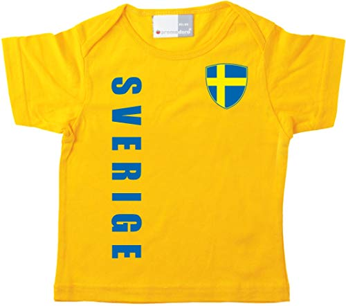 aprom Schweden Baby T-Shirt - Trikot - WM EM No.1 G SWE (68/74)