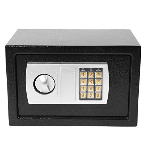 YLLN Caja Fuerte de Alta Seguridad para el hogar para almacenar artículos valiosos Acero Digital electrónico 8.5L (200x350x200mm) Negro