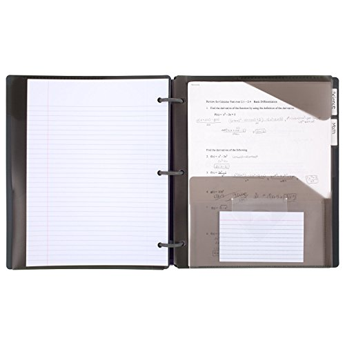 Five Star Flex Hybrid NoteBinder, 1 Inch Binder with Tabs, Notebook and 3 Ring Binder All-in-One, Geo (29148BQ7) Photo #3