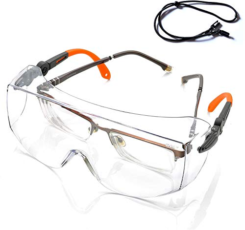 Gafas de Protección Antivaho Patillas Ajustables - Anteojos Gafas Protectoras Laboratorios con...