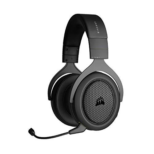 Corsair HS70 BLUETOOTH Auriculares para Juegos Multiplataforma (Sonido del Chat y del Juego a La Vez, Amplia Compatibilidad con Dispositivos, Almohadillas Ajustables Lujosa Espuma Viscoelástica) Negro
