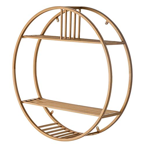 3 - Tiers Round Wall Mounted Wine Bottle Racks Metal Iron Display Holder Home Large Storage Space Bookshelf for Living Room Kitchen Bar Accessories