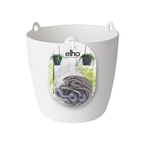 Elho Brussels Suspension Pot De Fleurs, Blanc, 18 CM