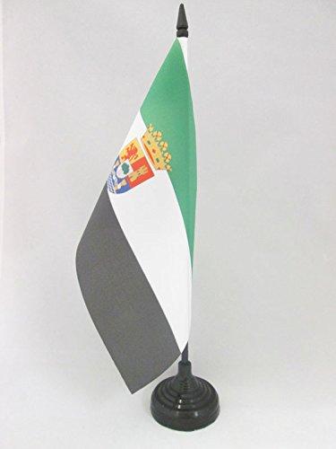 AZ FLAG Bandera de Mesa de Extremadura 21x14cm - BANDERINA de DESPACHO EXTREMEÑA 14 x 21 cm