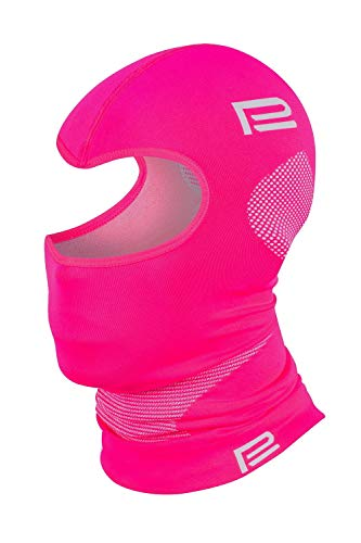 Prosske Pasamontañas térmico Xtreme 2.0 para mujer, hombre, niño, niña, niño, gorro de esquí, Unisex adulto, rosa y gris, S-M