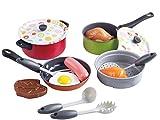 PlayGo Kochtopf Set Metall mit Zubehör Lebensmittel für Spielküche