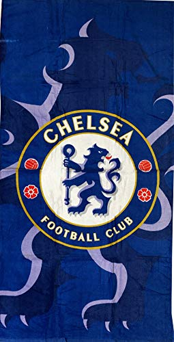 TEXTIL TARRAGO Toalla de Playa Chelsea FC 100% Algodon 70x140 cm Licencia Oficial CFC8009