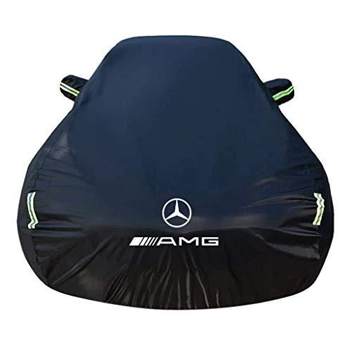 SjYsXm Funda Coche Impermeable Compatible con Mercedes-Benz GLS (X167) GLS 400d (330 HP) 4MATIC G-TRONIC 2019-2021, Transpirable Cubierta Coche para Invierno Verano Cubre con Tira Fluorescente